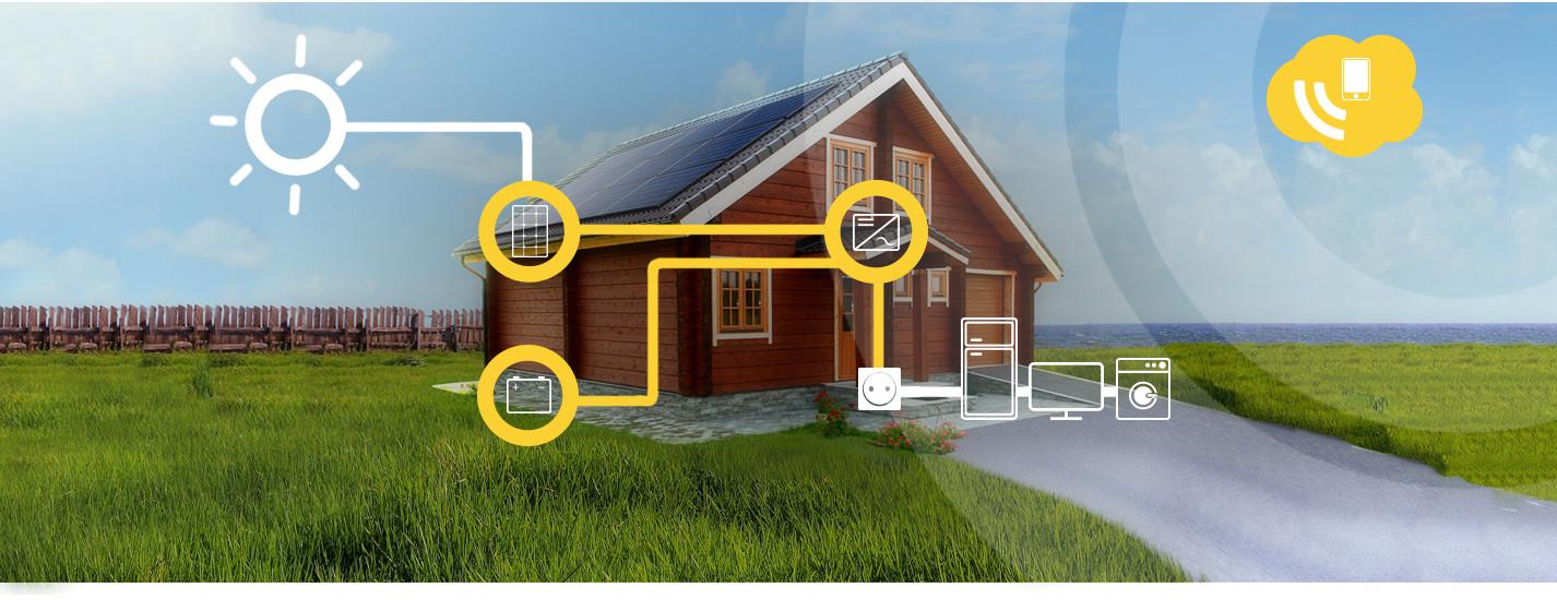Zelf verbruik fotovoltaïsche Alma Solar huis