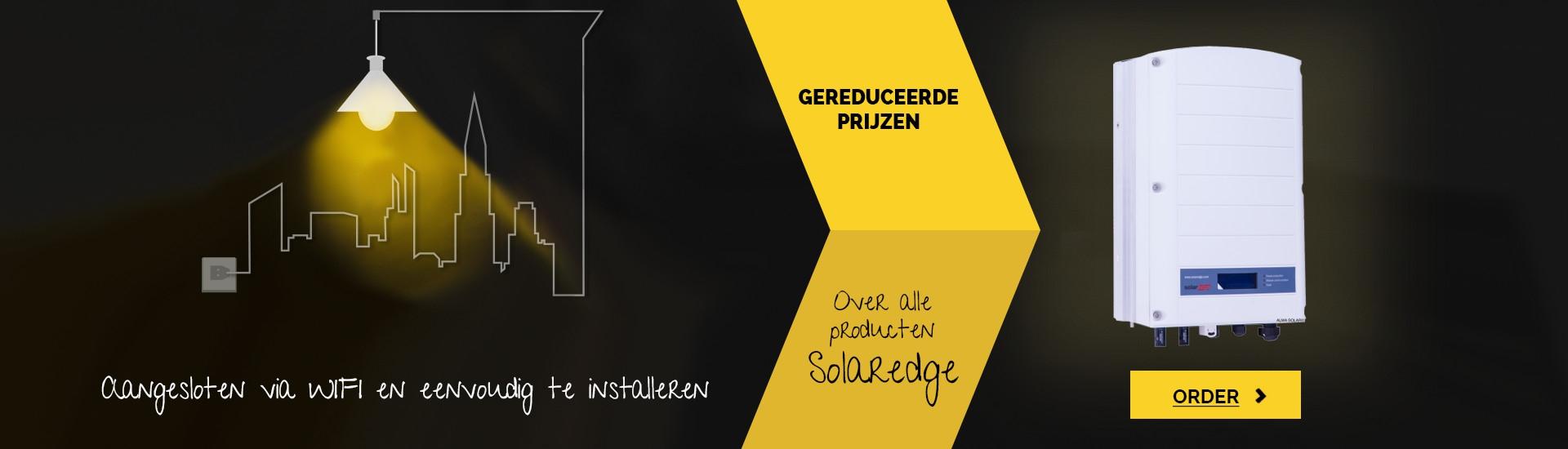 Gereduceerde prijzen over alle producten Solaredge