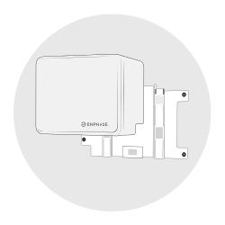 Wandsteun is geschikt voor Enphase batterij